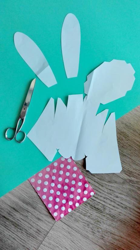 Papierhase DIY Bild Ostern 1