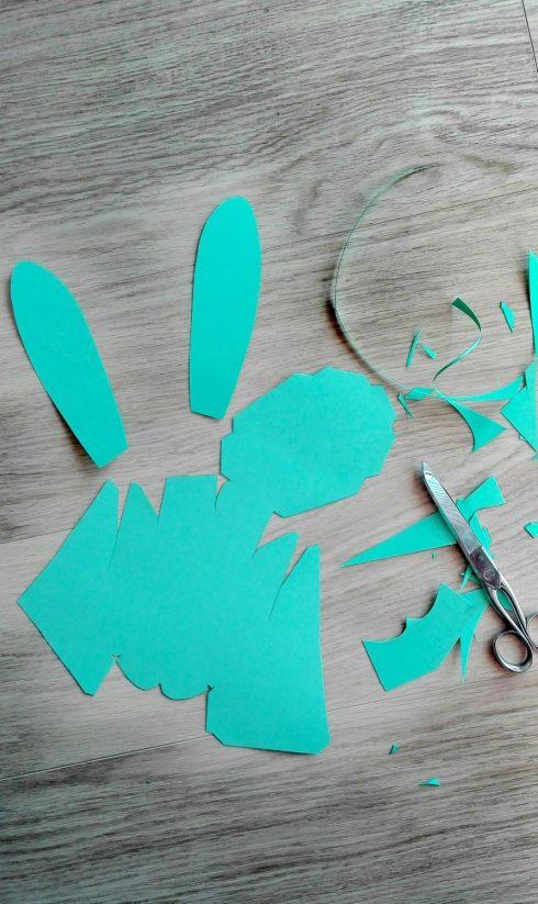 Papierhase DIY Bild Ostern 2