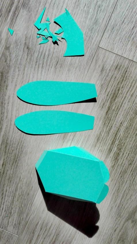 Papierhase DIY Bild Ostern 4