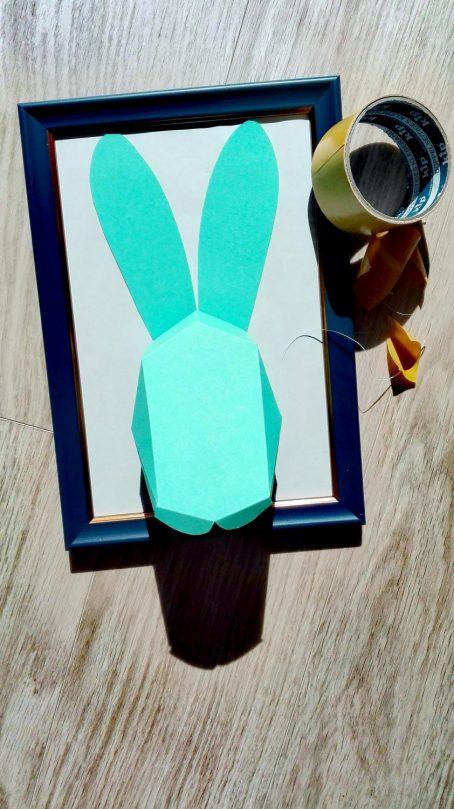Papierhase DIY Bild Ostern 5