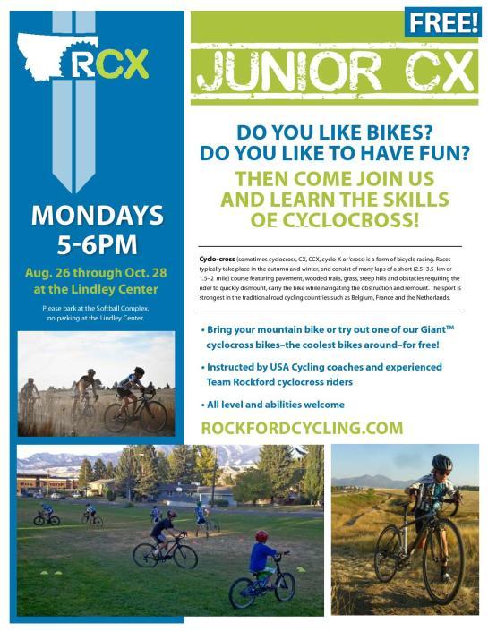 Coaching Junior kids cyclocross camp