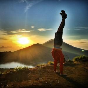 Derek Loudermilk Volcano Handstand