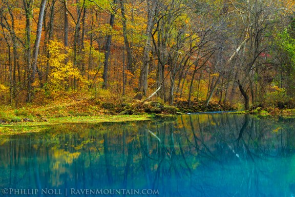The deep blue Alley Spring in the Missouri Ozarks