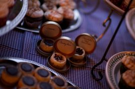 Baby cheesecakes with labels