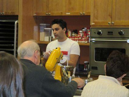 Bobby explaining how to make dough