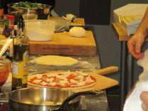 Pizza margherita in progress