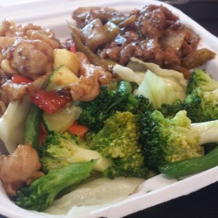The bounty of mediocre American Chinese Food
