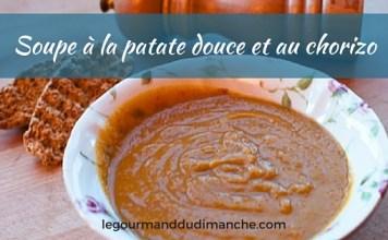Soupe à la patate douce et au chorizo