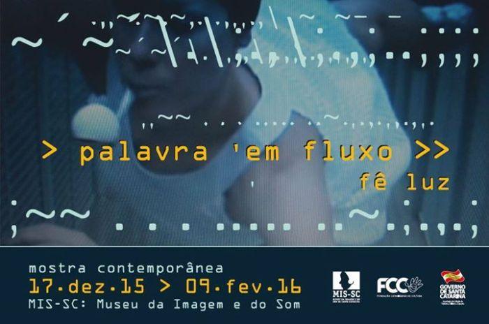 """Exposição """"Palavra em Fluxo"""", de Fê Luz"""