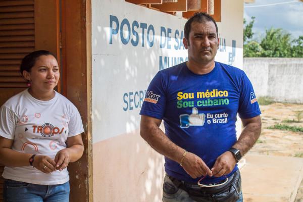 Médico cubano, Jorge Jordan fala à reportagem do O Olho sobre o programa; Foto: João Alberto/ O Olho