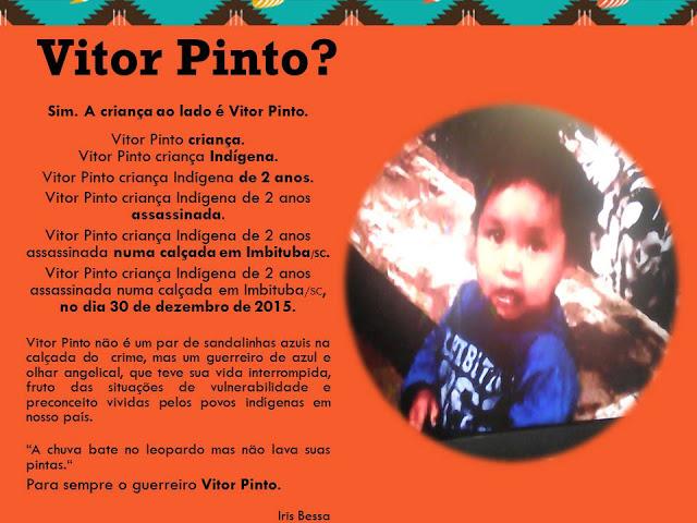 Exposição marca 30 dias do assassinato de Vitor
