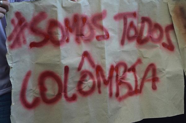 De Santa Catarina-Brasil, Militantes enviam apoio aos companheiros/as da Colômbia