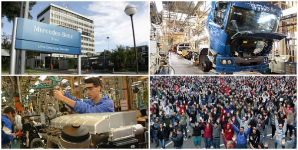 Trabalhadores da Mercedes-Benz se mobilizam contra suspensão da produção em SP