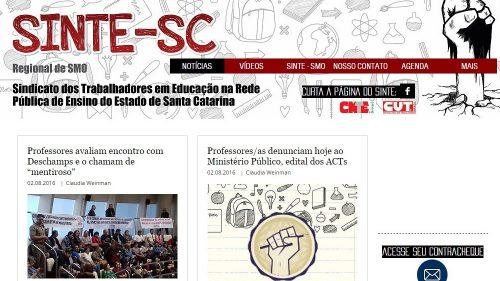 Sinte fortalece comunicação do sindicato e lança novo blog