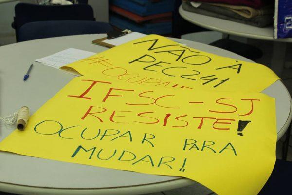 Nota aos estudantes do campus do IFSC-São José