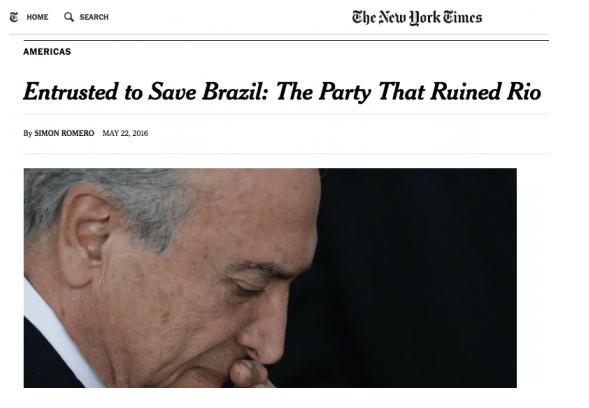Novos escândalos de Temer comprovam que o impeachment visava proteção de corruptos