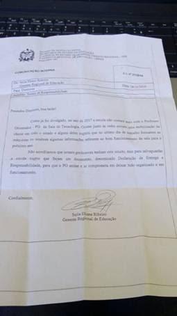 Secretaria Estadual de Educação quer responsabilizar professores das salas informatizadas por equipamentos