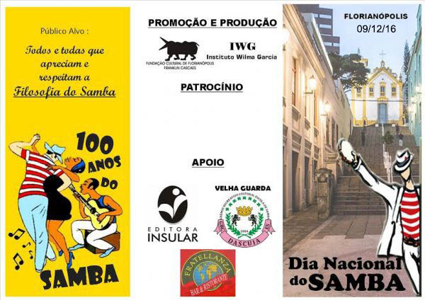 Homenagem ao Dia Nacional do Samba em Florianópolis foi transferida para 09/12