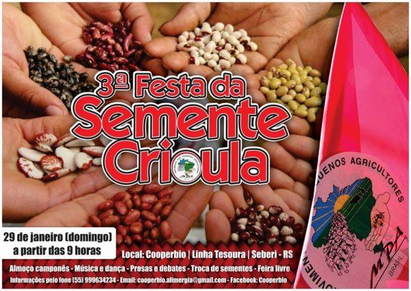 Camponeses celebram suas sementes