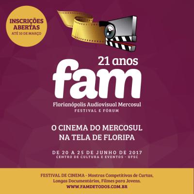 Abertas as inscrições para o 21º Florianópolis Audiovisual Mercosul