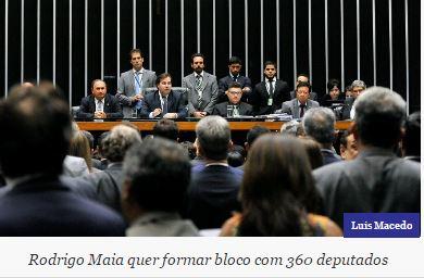 Rodrigo Maia articula bloco com 10 partidos e isola oposição na disputa pela presidência