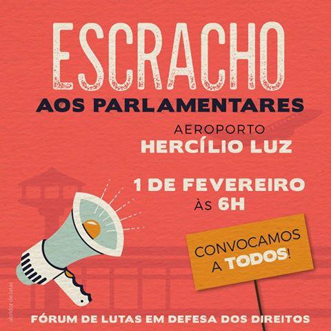 """""""Recepção"""" aos parlamentares no aeroporto Hercílio Luz. Participe!"""