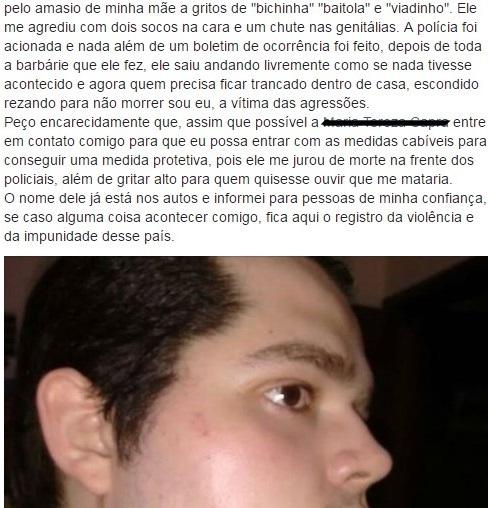 Homofobia: Jovem agredido em São Miguel do Oeste/SC denuncia caso