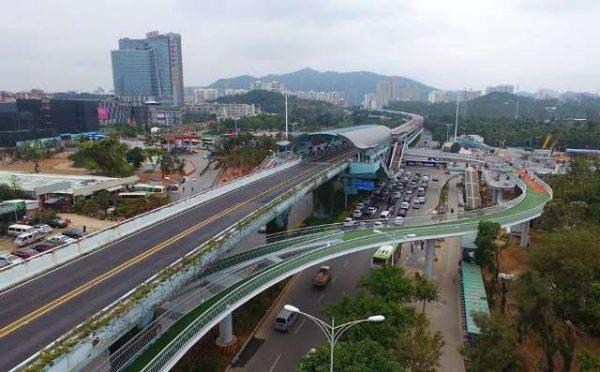 China inaugura a maior ciclovia elevada do mundo