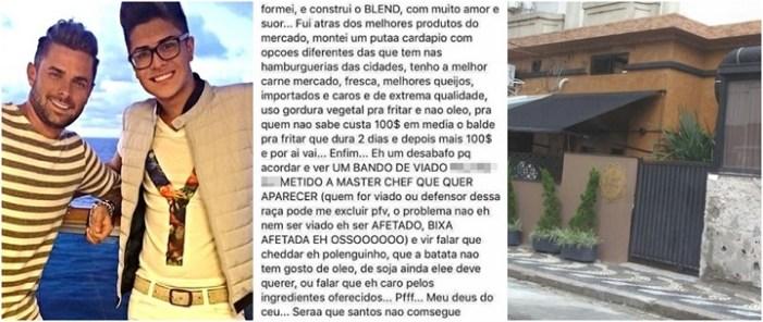 Dono de restaurante em Santos explica por que atacou casal gay