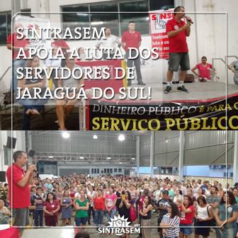 Servidores de Jaraguá do Sul entrarão em greve na segunda 6/3