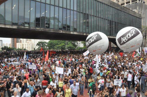 A expectativa da CNTE é que todos os profissionais da educação do país irão às ruas neste dia 28 (Foto Douglas Mansur/APEOESP)