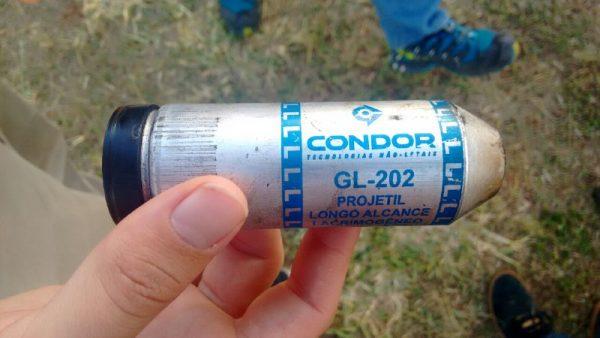 Cartucho de bomba de gás recolhido (Foto: Rafael Nakamura / Mídia NINJA)