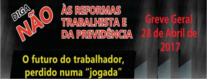 28 de ABRIL – VAMOS PARAR O BRASIL