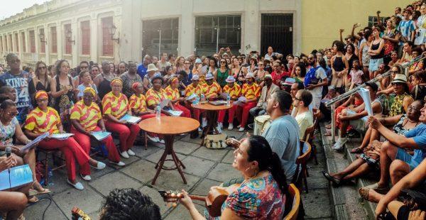 Samba de Terreiro se apresenta nesta terça (11) na Escadaria do Rosário