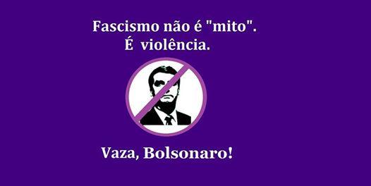 Ato em repúdio à visita de Jair Bolsonaro em Florianópolis