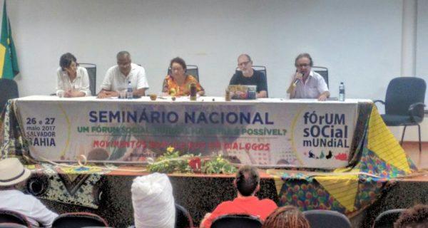 Comitês elegem a Bahia para sediar o Fórum Social Mundial em 2018