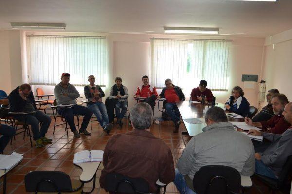 Regional Norte da CUT reunida no Sindicato de Alimentação (Foto: Reprodução)