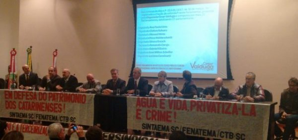 Lançada a Frente Parlamentar em Defesa dos Serviços e Empresas Públicas de SC