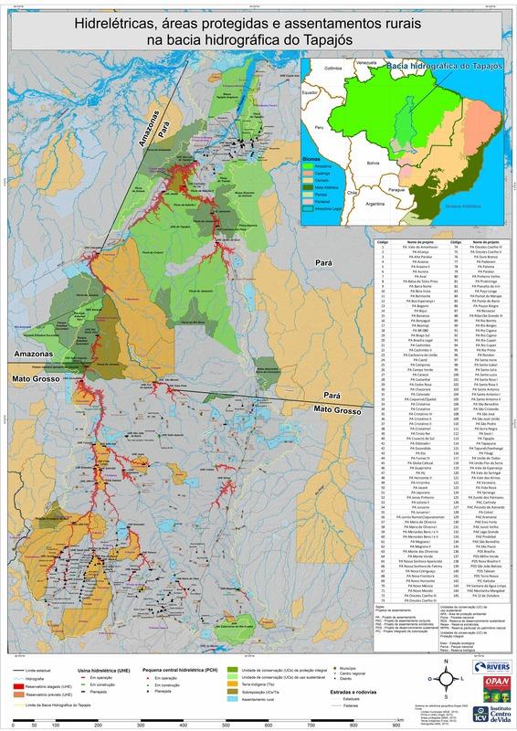 Bacia do Tapajós é uma das mais ameaçadas por hidrelétricas na Amazônia, segundo estudo publicado na Nature Notícia