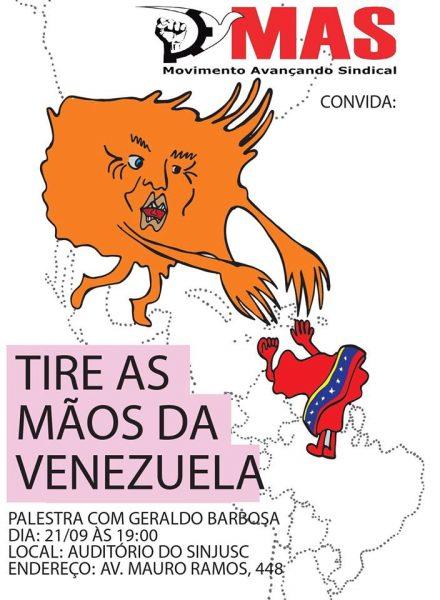 Tire as mãos da Venezuela – Palestra com Geraldo Barbosa