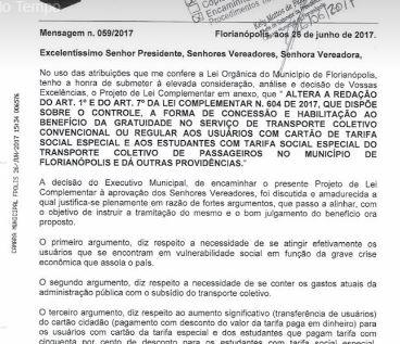 Prefeitura de Florianópolis corta tarifa social e retira o direito de 22 mil pessoas de baixa renda