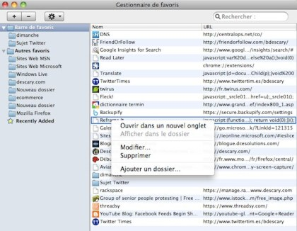 chrome mac 1 Google Chrome Mac: les modules et le gestionnaire de favoris sont enfin ajouts