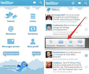 android twitter Twitter lance une application Android