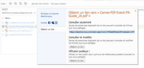 skydrive 3 Microsoft SkyDrive implante des fonctionnalits de partage