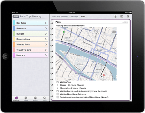 3113.on onenote 13 ipad2 iPad : 10 applications gratuites intéressantes