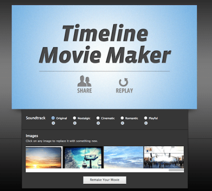 timeline movie maker Facebook: Timeline Movie Maker transforme votre Journal en film