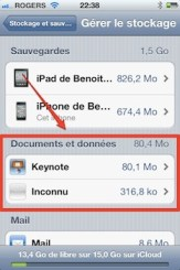 icloud documents donnees iCloud iPhone   iPad: comment grer efficacement les 5 Gigas despace gratuit 