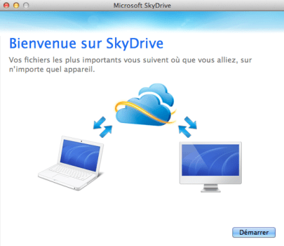 skydrive mac osx Microsoft Skydrive double Google et offre une application de synchronisation