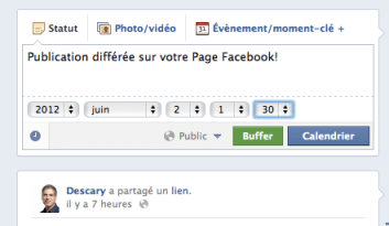 facebook page publication differee Pages Facebook: rôles d'administrateurs et publications différées
