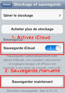 iphone ipad sauvegarde icloud 2 iPhone iPad: comment effectuer une sauvegarde manuelle de vos donnes